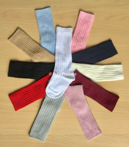 BABY BOYS GIRLS RIBBED KNEE HIGH SOCKS 0 7 YRS 11 COLOURS